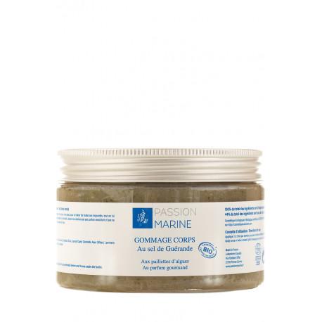 Gommage corps au sel de Guerande et aux paillettes d'algues