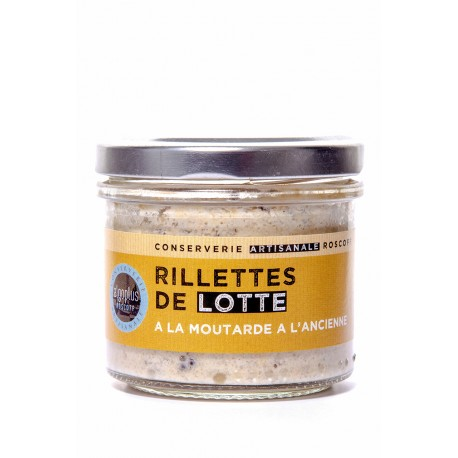 Rillettes de lotte à la moutarde à l'ancienne 90 g